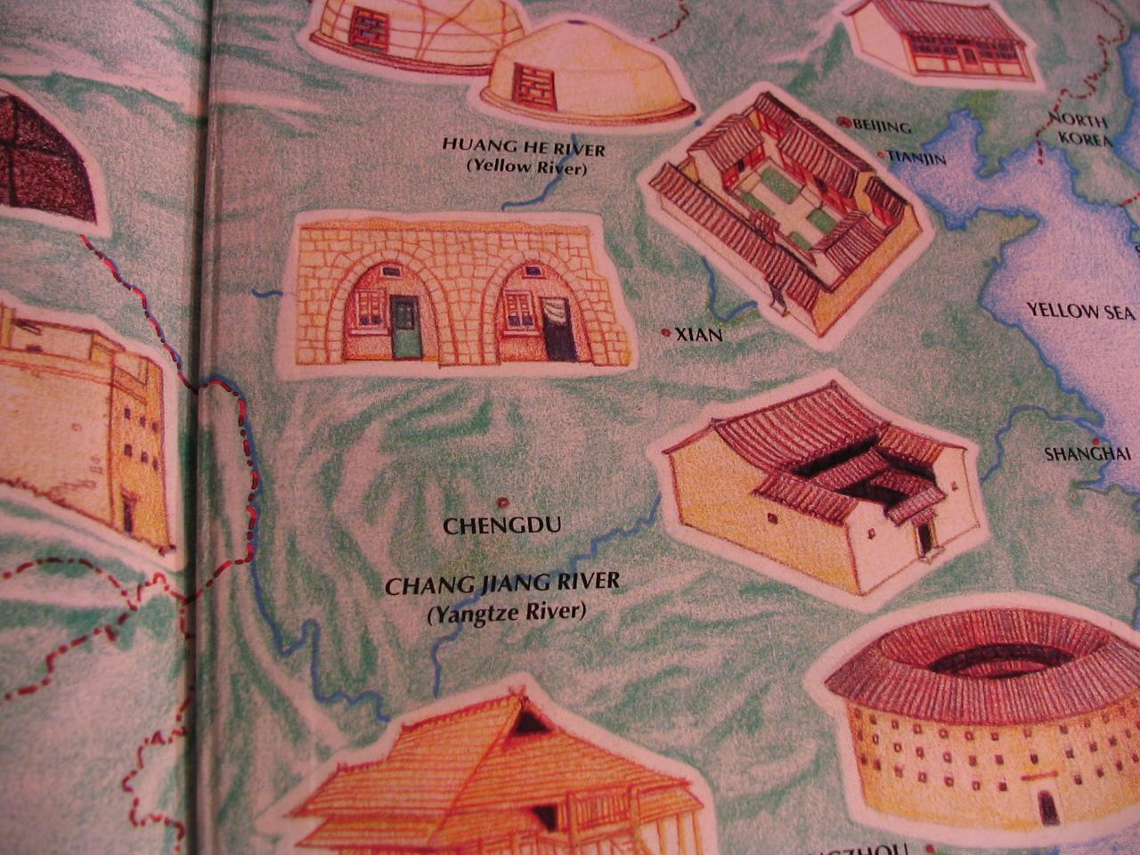 carte des maisons