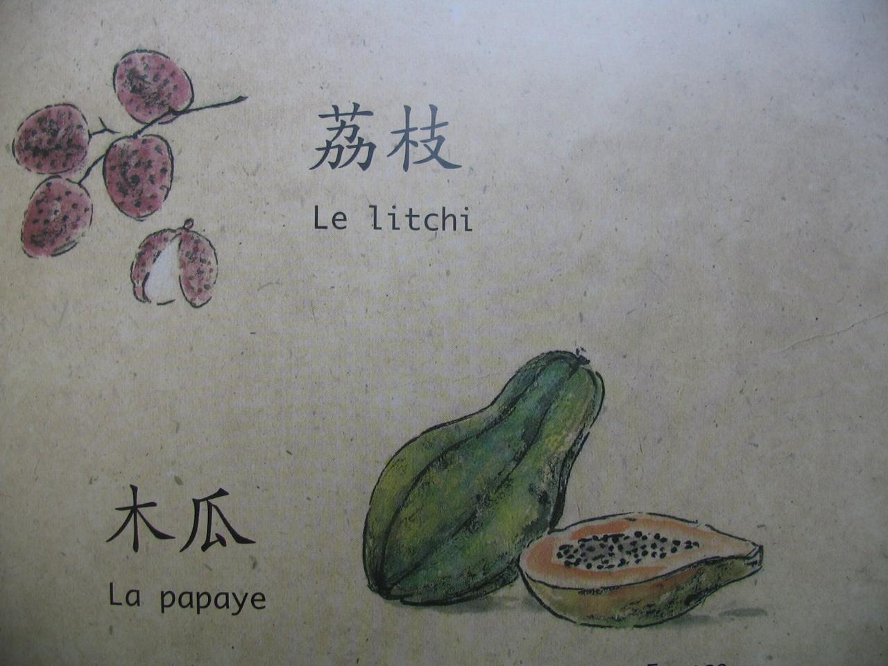 litchi papaye