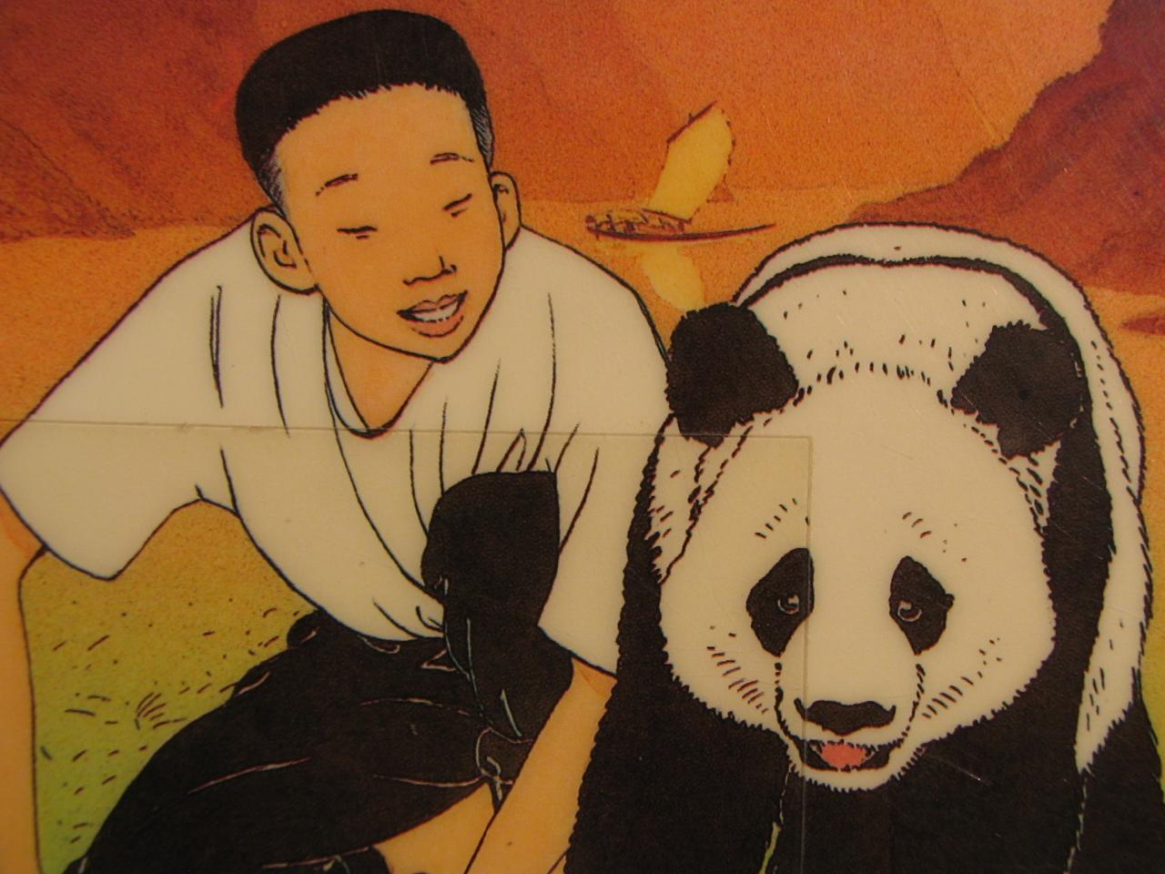 garçon et panda