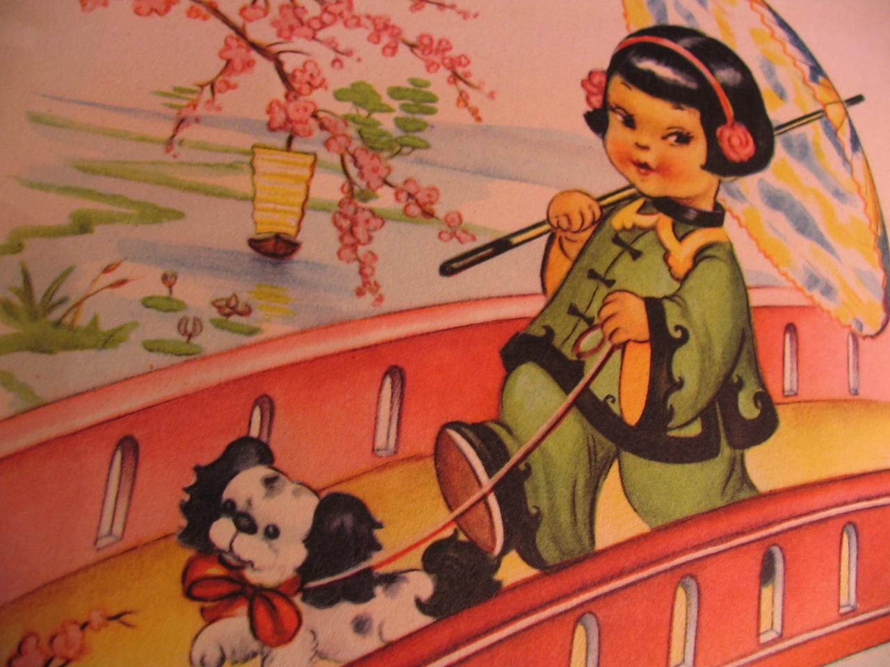 Joyeu chinois promenade