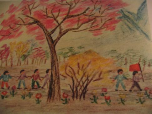 dessin d'enfant : banlieue
